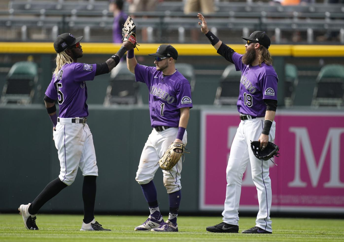 Pirates Rockies Baseball outfielders