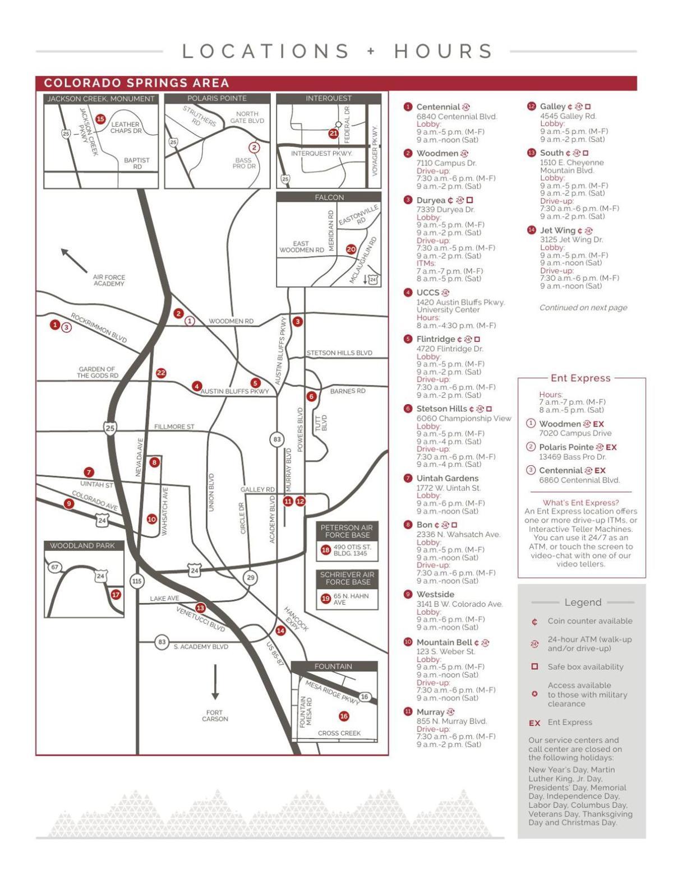 Ent Credit Union branch map