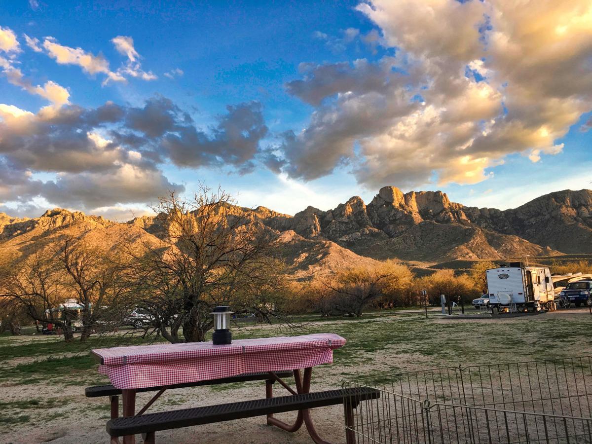 campsite at Catalina State Park in Tucson, Ariz.
