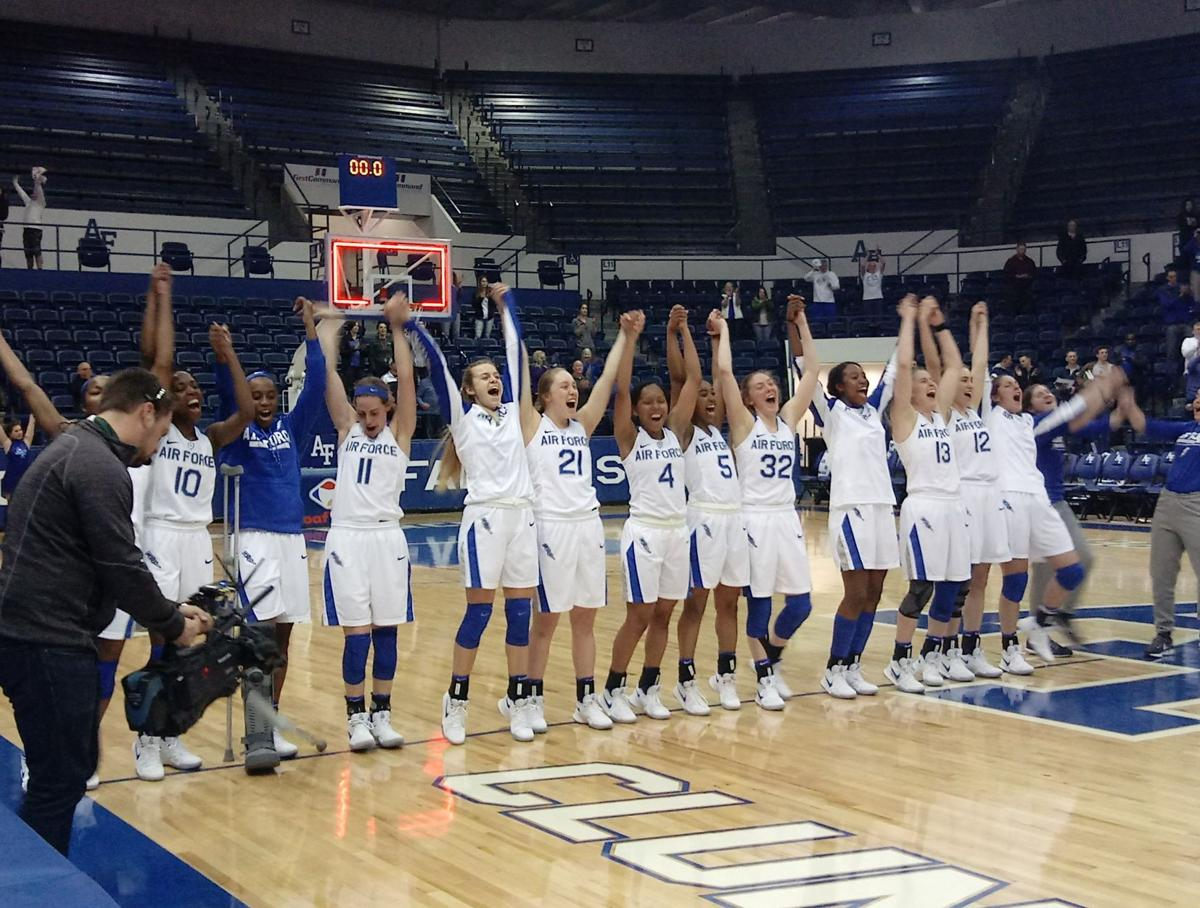 Air Force women's basketball upsets first-place Wyoming in a storybook home finale