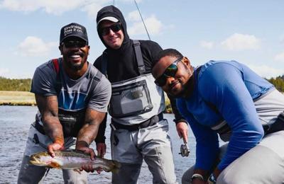 Von Miller and Malik Reed fishing