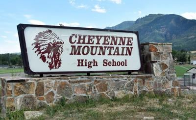 sign in front of Cheyenne Mountain (copy)