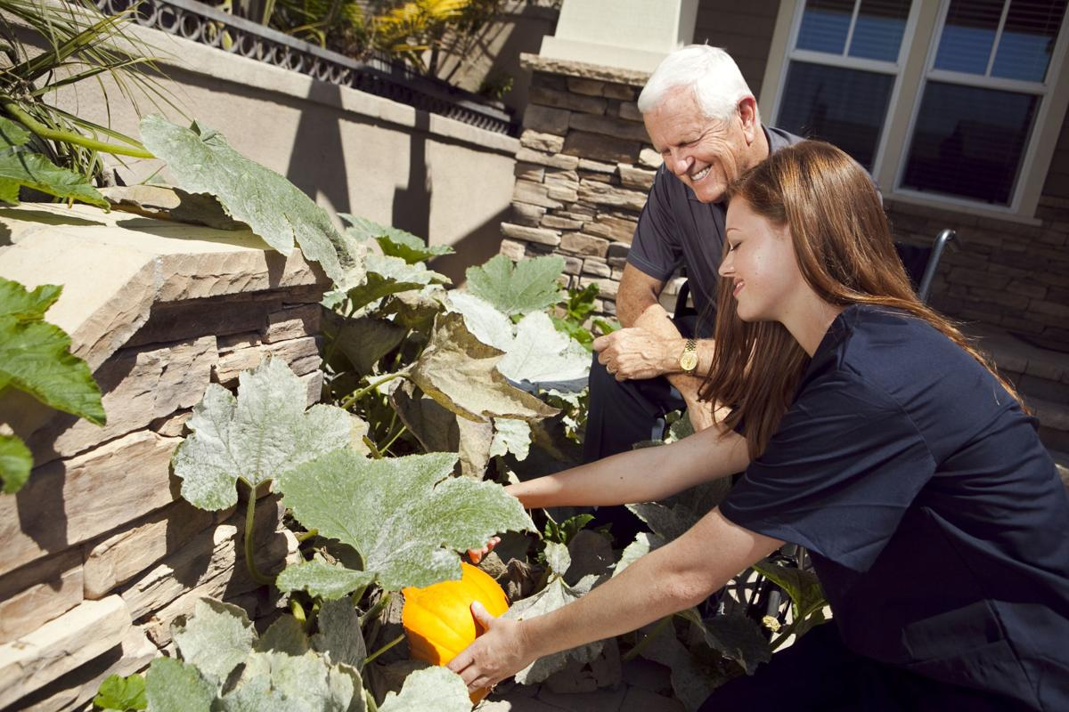 Caregiver planting