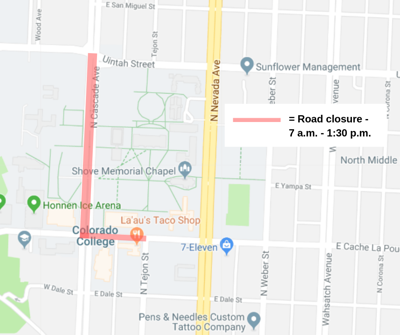 Roads closed around Colorado College for commencement Sunday ...