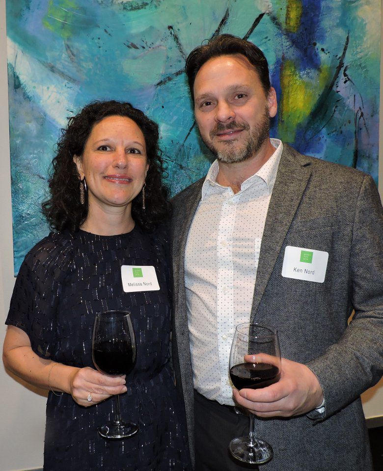 Green Box Arts Festival celebration: Melissa and Ken Nord, Stones, Bones and Wood Gallery 121717 Photo by Linda Navarro