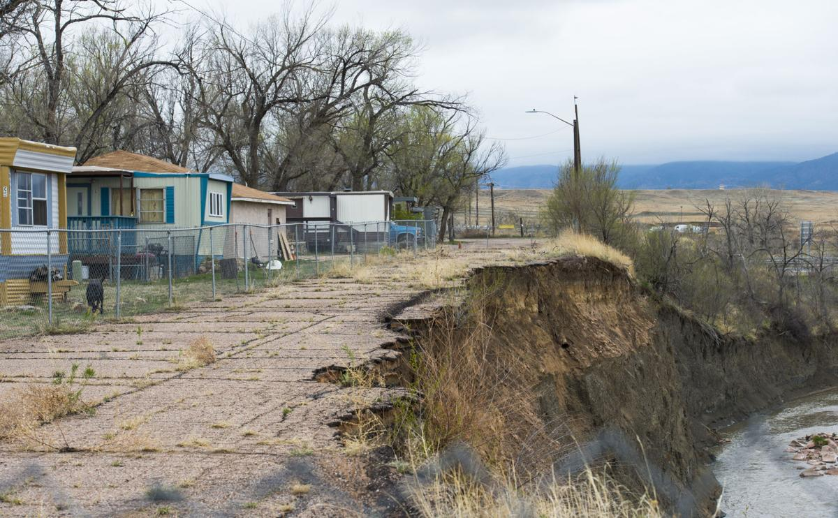 Fate of mobile home park threatened by erosion by Fountain ... Mobile Home Parks In Fountain Colorado on mhvillage colorado springs colorado, mobile home trailer frame, manufactured homes colorado,