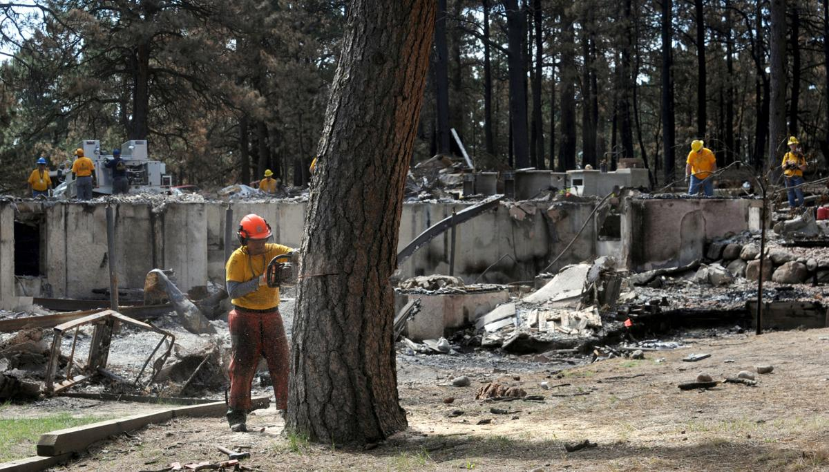 Church volunteers help sift Black forest fire rubble