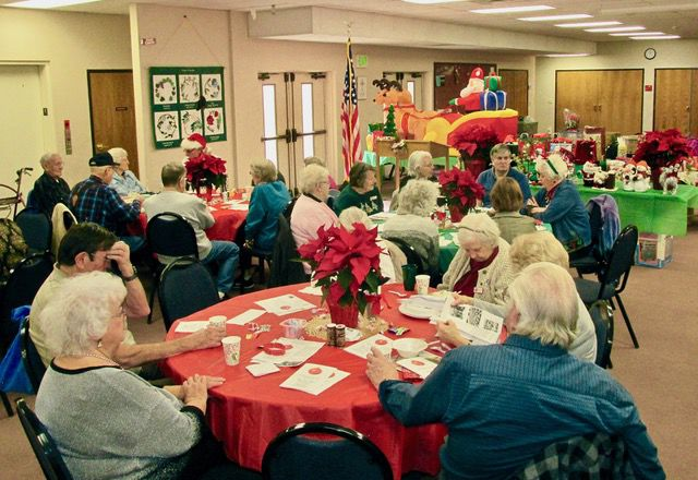 AARP Chapter 1100 members enjoy a holiday lunch