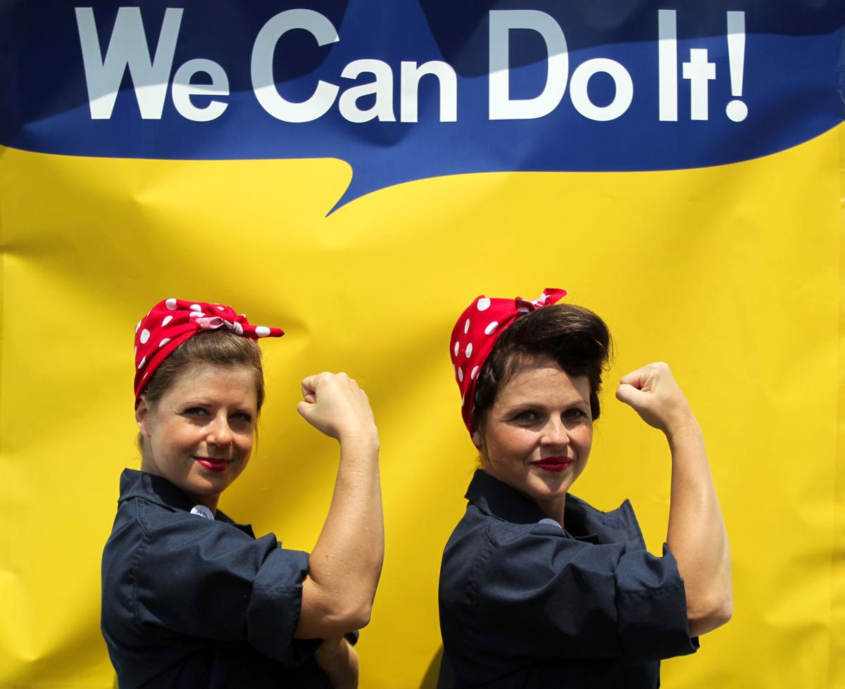 "Guinness World Record for ""The Largest Gathering of People Dressed as a Rosie the Riveter"" Richmond"