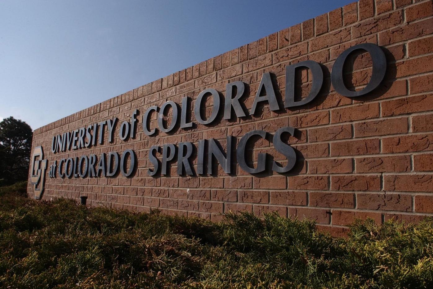 University of Colorado at Colorado Springs sign Tuesday, April 25, 2005. Photo by Hunter McRae