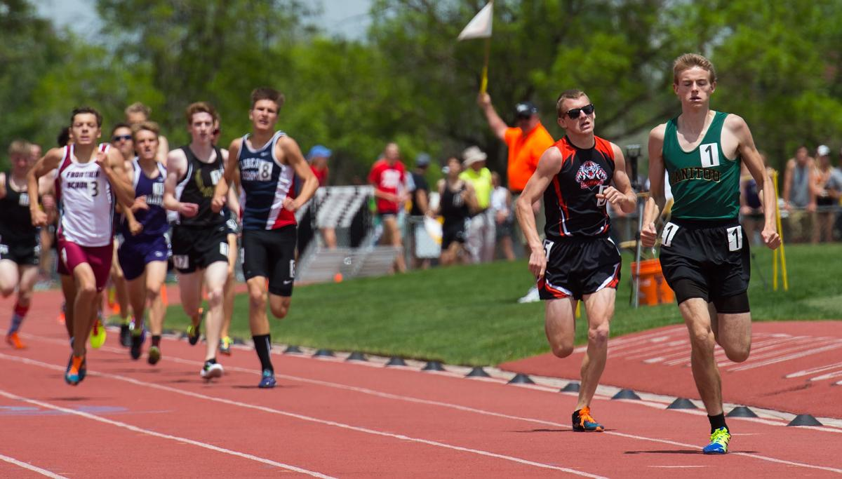 Manitou Springs Jared Keul races toward the finishline for the 3A 800-meter run state title Friday, May 20, 2016, during the second day of the Colorado State Track and Field meet at Jefferson County Stadium in Lakewood, Colo. (The Gazette, Christian Murdock)