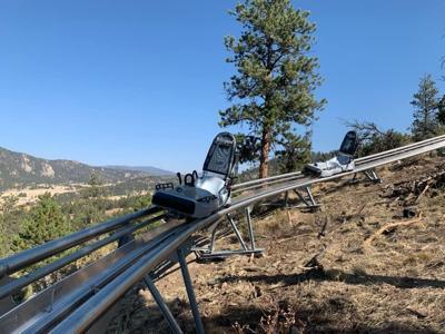Courtesy photo of the Mustang Mountain Coaster.