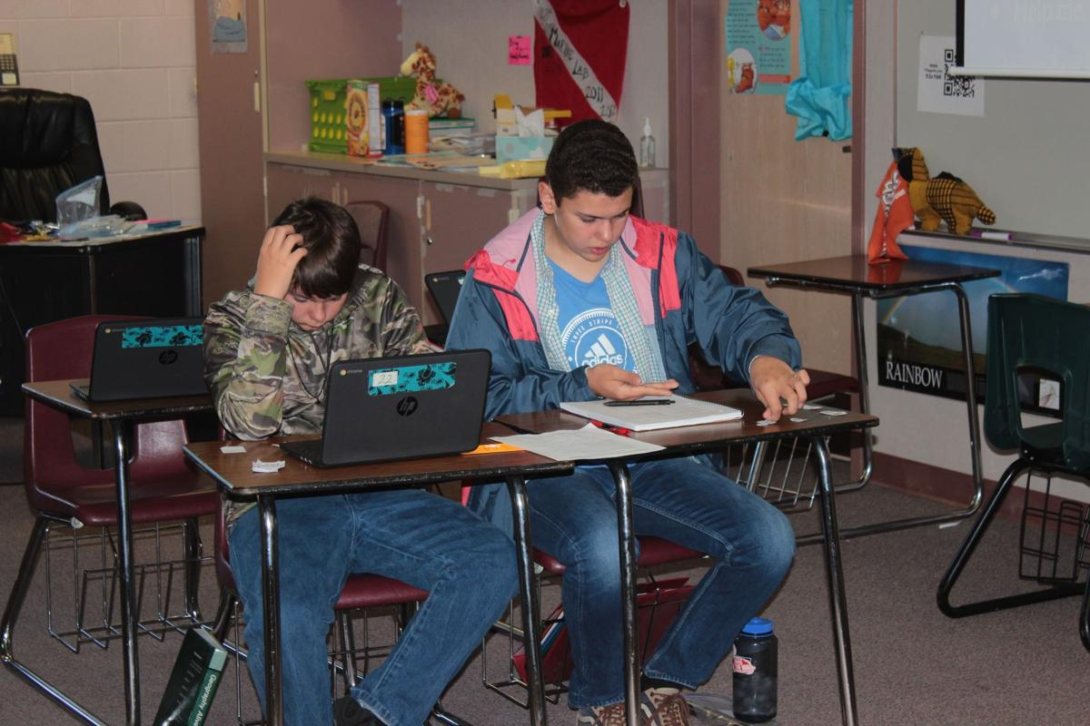 seventh-grade history class at Woodland Park Middle School