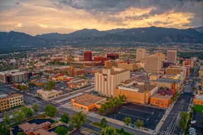 Aerial View of Colorado Springs at Dusk. Photo Credit: Jacob Boomsma (iStock).
