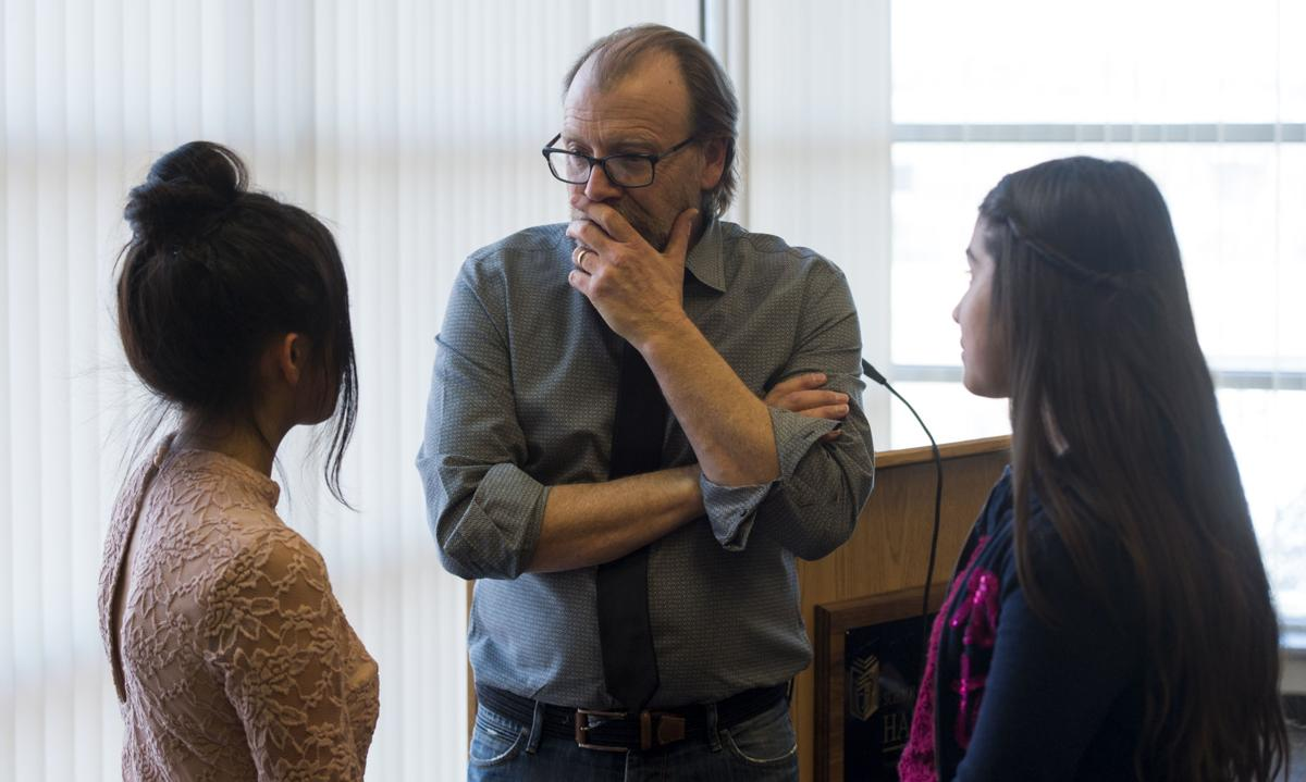 Prize-winning author imparts life's insights to Colorado Springs students