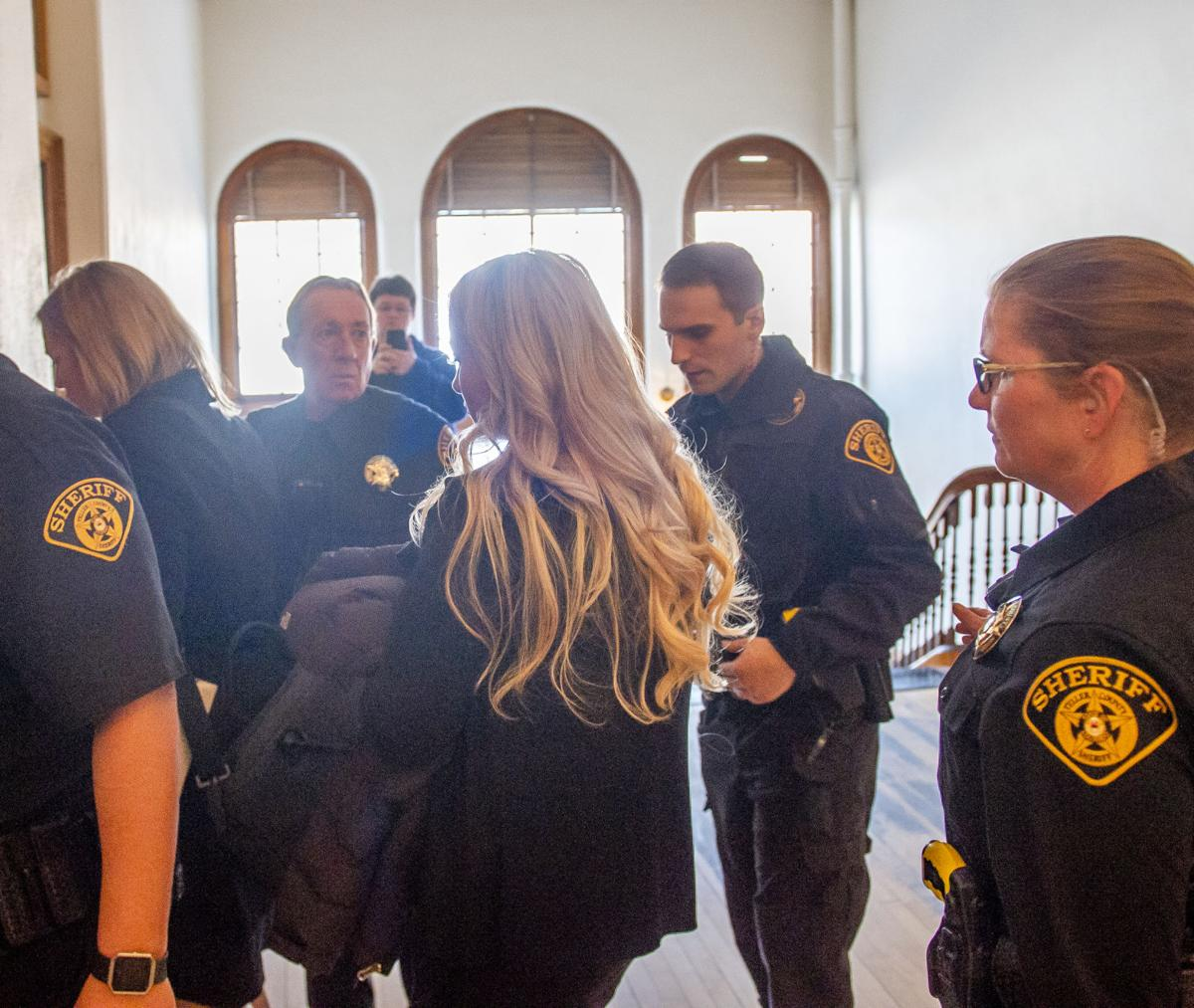 (COURIER) Krystal Jean Lee Kenney exits the courtroom