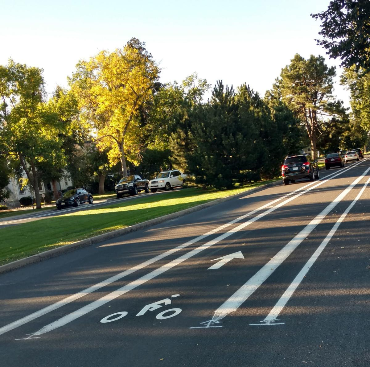 Bike lanes on Cascade