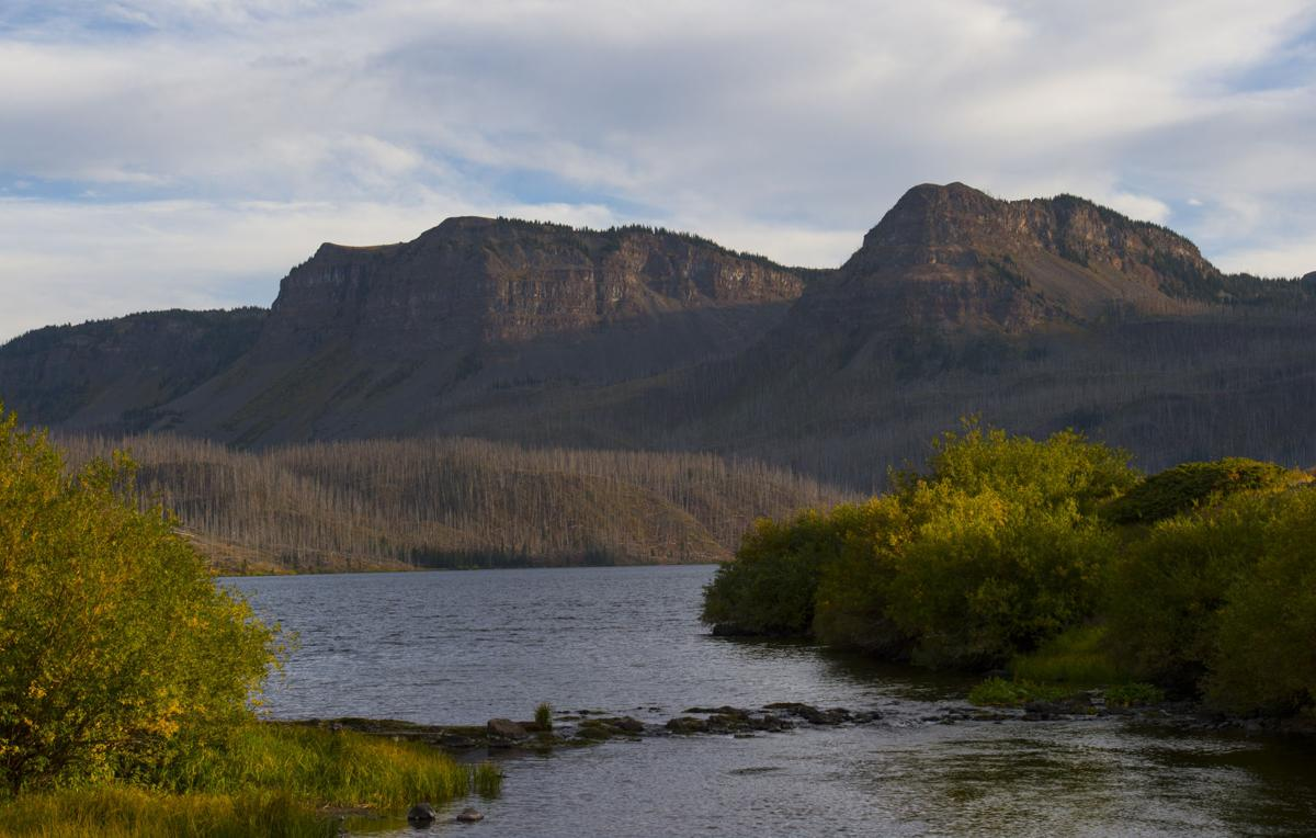 The colors of fall spot the landscape around Trappers Lake Thursday, Sept. 8, 2016, in northwest Colorado. (The Gazette, Christian Murdock)