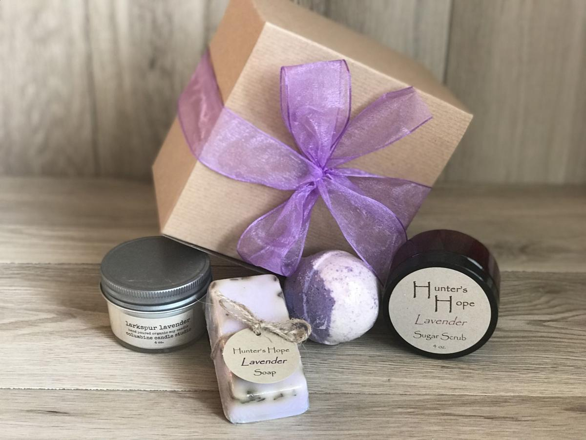 Lavender soaps and scrubs
