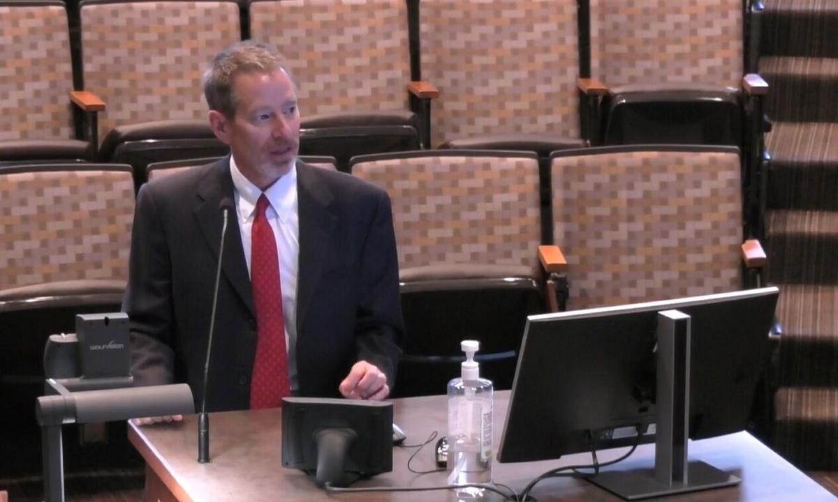 Dr. Charles Benight presents to El Paso County commissioners on GRIT program