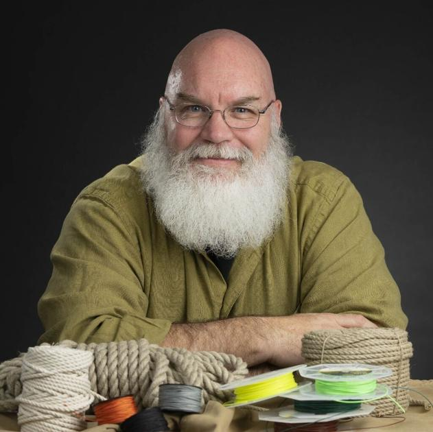 Colorado Springs knot-tyer makes art from recycled climbing rope, guitar strings, fly fishing line