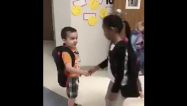 Why this kindergarten class starts every day with a meaningful handshake
