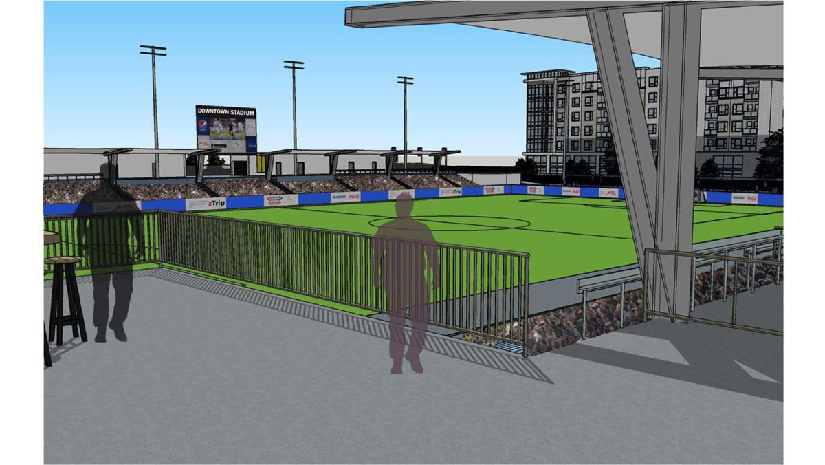 Switchbacks Stadium rendering