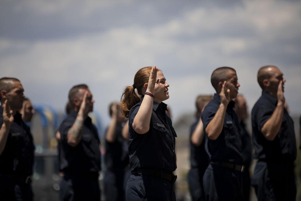 Colorado Springs Fire Department's Fire Academy class of 2020-2021 graduates