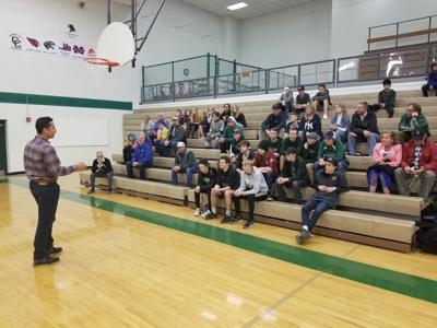Former Colorado Rockies outfielder Ryan Spilborghs at Woodland Park High School