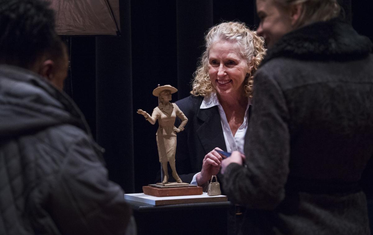 Fannie Mae Duncan sculpture
