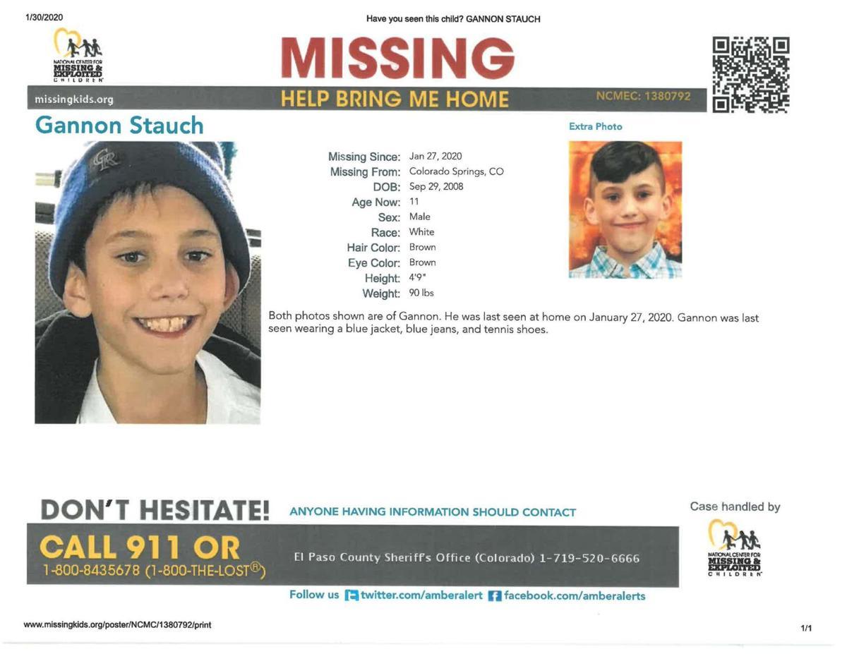 Gannon Stauch missing poster