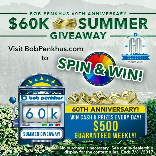 Bob Penkhus Automotive celebrates 60 years with the 60k Summer Giveaway
