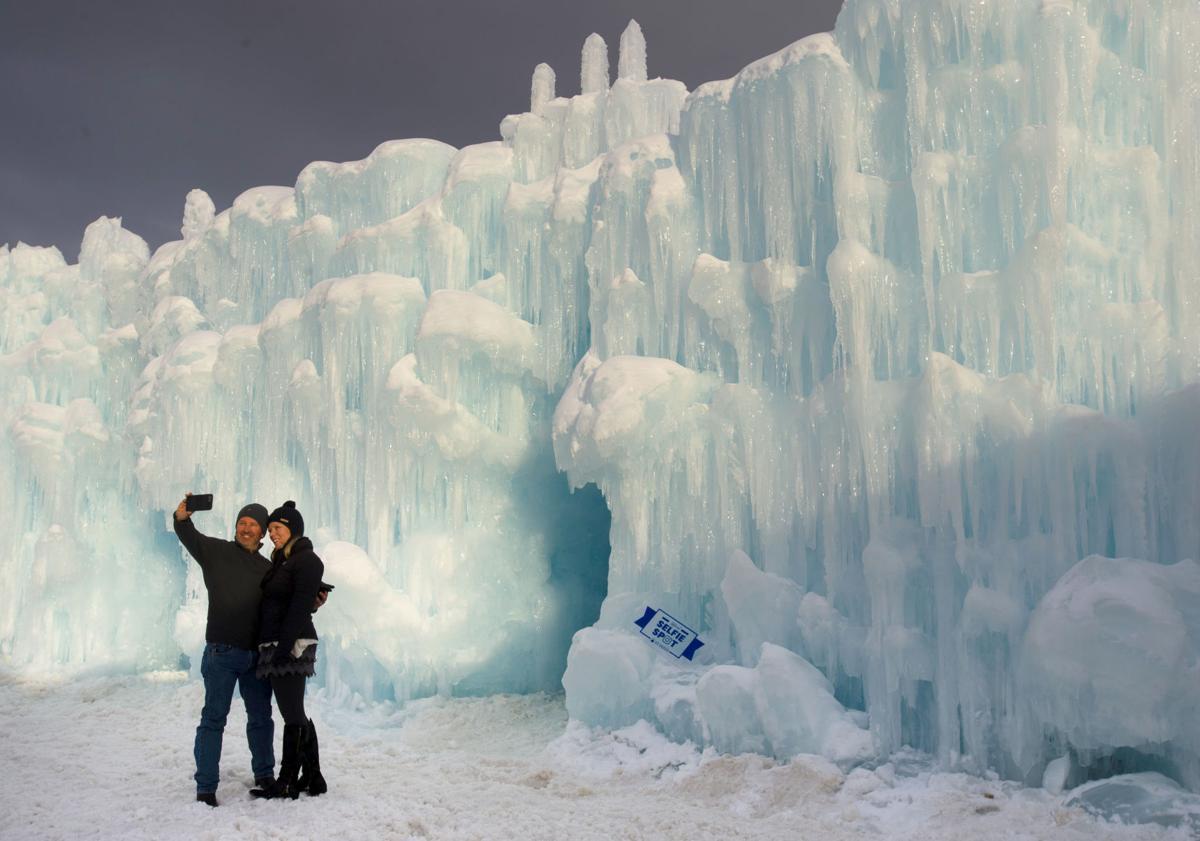 Explore icy architecture at Ice Castles Colorado