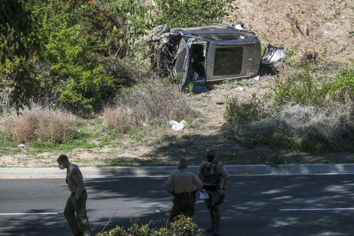 APTOPIX Tiger Woods Vehicle Crash