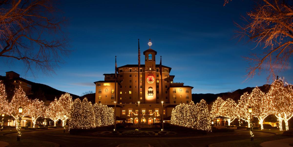 holiday lights at Broadmoor