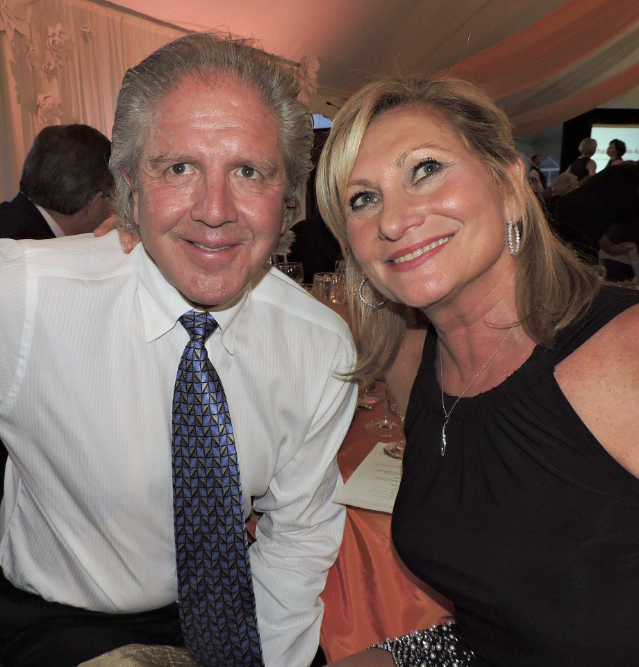 Enchanted Weekend Gala: Co-chair Connie Christofferson with husband Curt. 081917 Photo by Linda Navarro