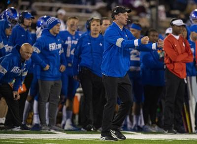 """Air Force coach Troy Calhoun wonders if Mountain West is """"really a match"""" for Falcons"""