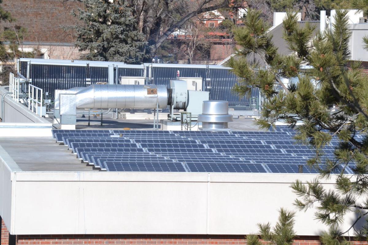 Colorado College solar panels