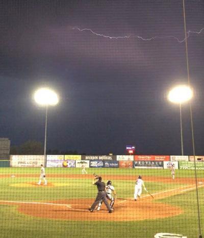 Sky Sox Phillips in lightning
