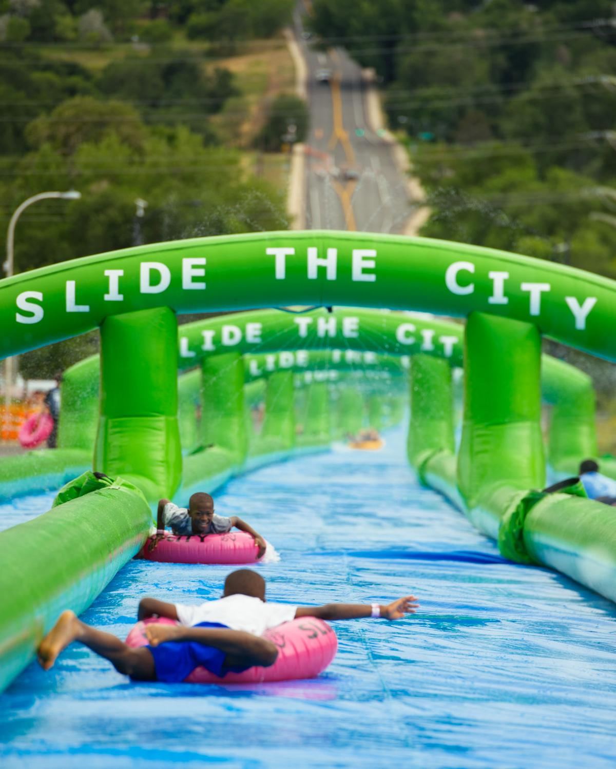 Slide the City brings out the kid in everyone attending