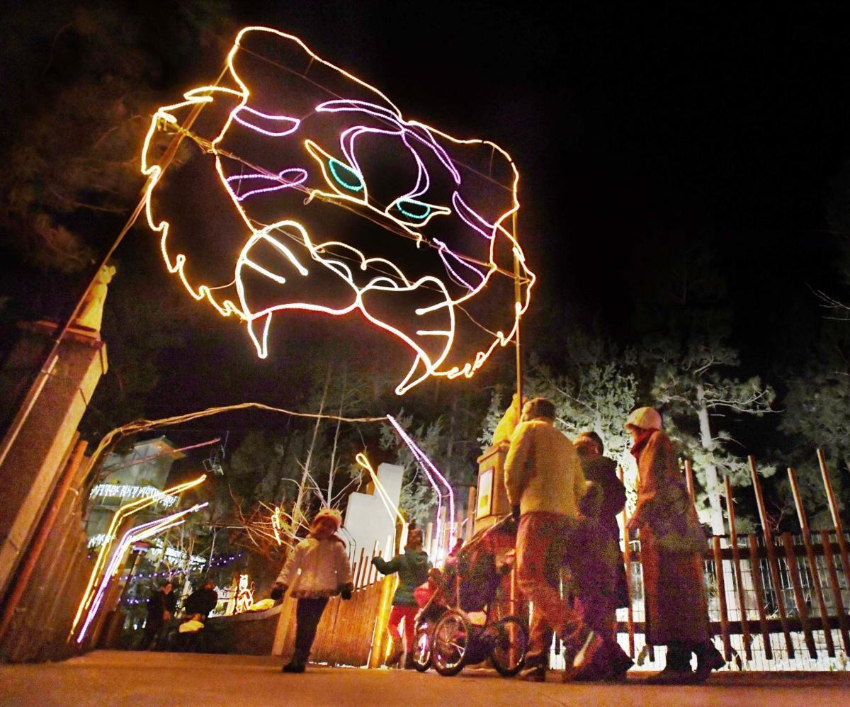 Cheyenne Mountain Zoo's lit up in twinkling lights for Electric Safari