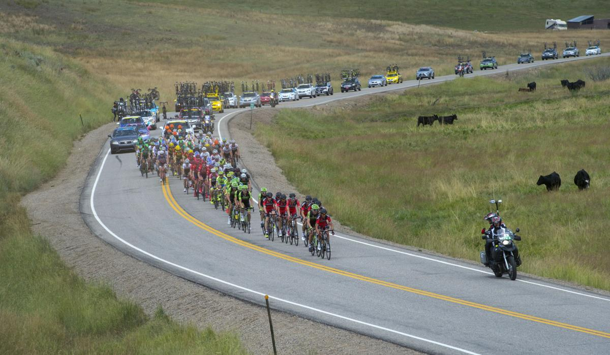 Monday, Aug. 17, 2015, during Stage 1 of the 2015 USA Pro Challenge in Steamboat Springs, Colo. Stage 1 is a two-lap, 97 miles circuit beginning and ending in Steamboat Springs. (The Gazette, Christian Murdock)