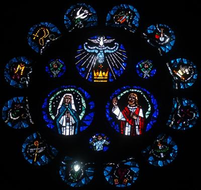 stained glass at St. Mary's Catholic Cathedral