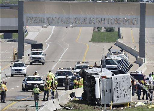 At least 2 dead as bus overturns near Dallas | Colorado