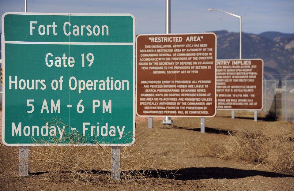 FORT CARSON GATE 19