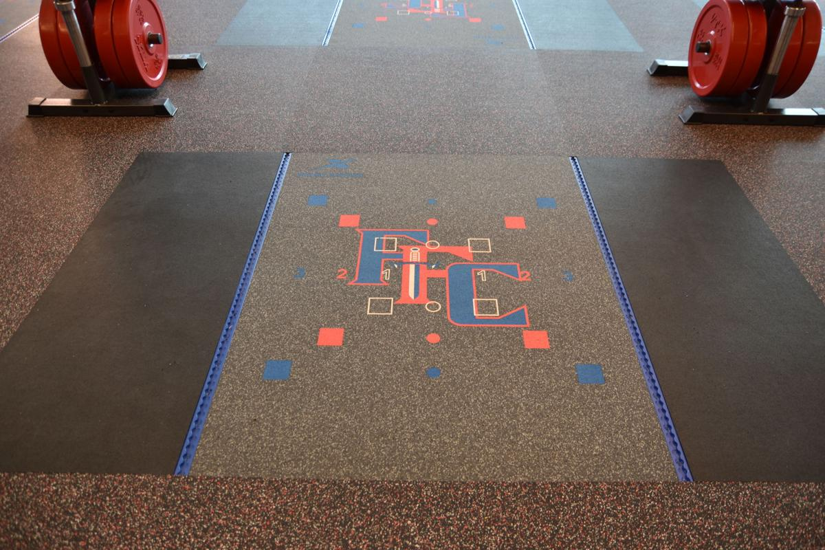 Fountain-Fort Carson weight room floor