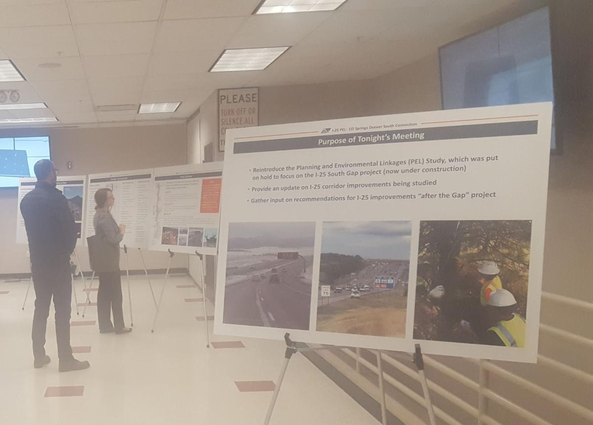 Colorado Department of Transportation's long-range vision of potential improvements on the Interstate 25 South corridor