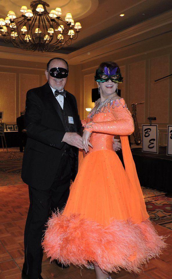 Ballroom dancers Brent and Brooke Graves enjoyed the 2017 Colorado Springs Choral Society Monte Carlo Masquerade. The 2018 masquerade gala is Feb. 16.