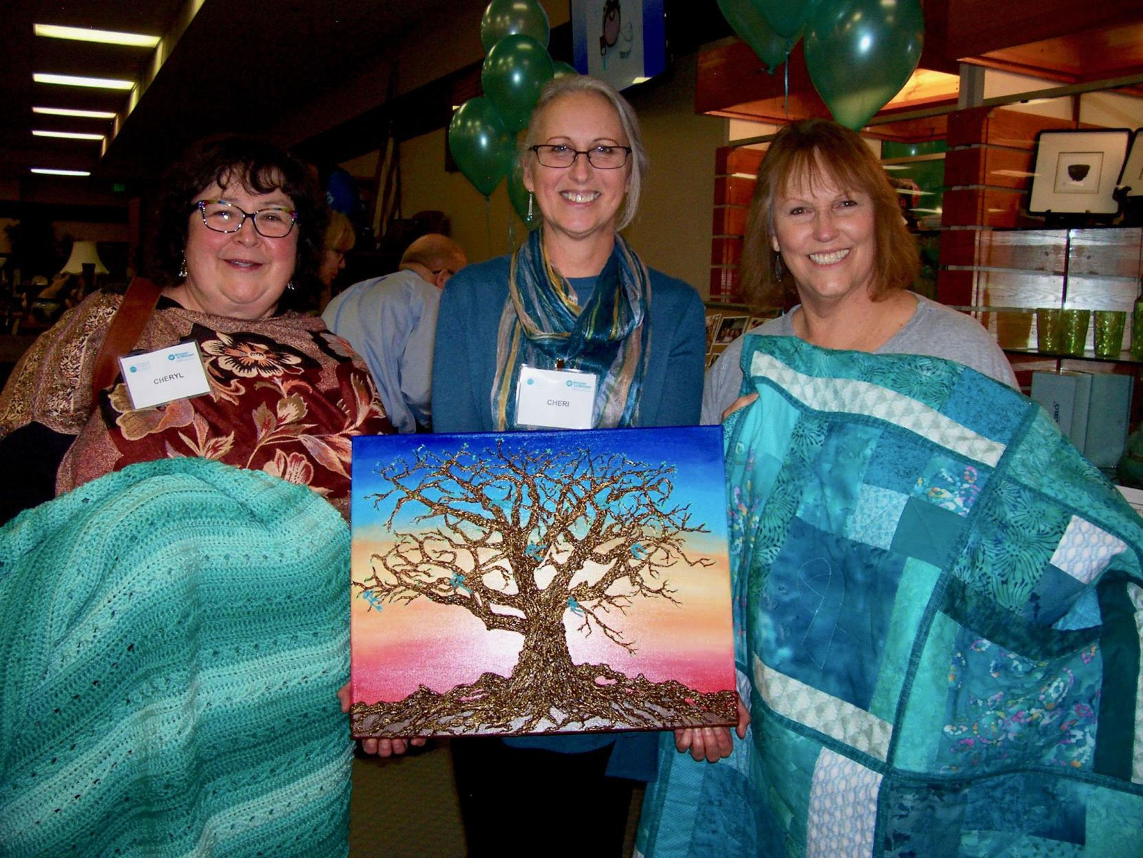 Turning Out In Teal Sue Dinapoli Ovarian Cancer Society Auction Raises Funds To Support Women Battling Cancer Cheyenne Edition Gazette Com