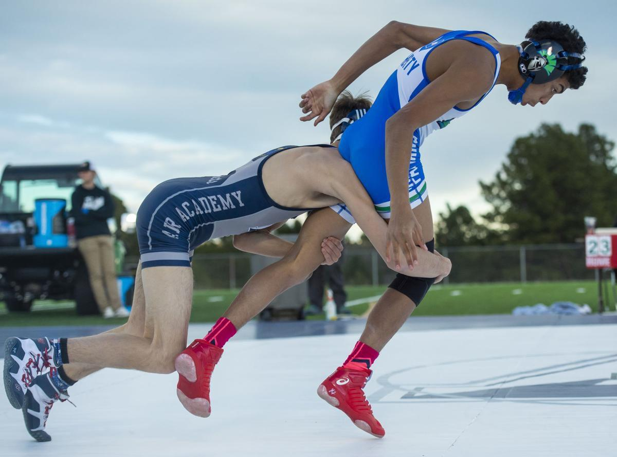 Air Academy wrestlers host duel against Doherty